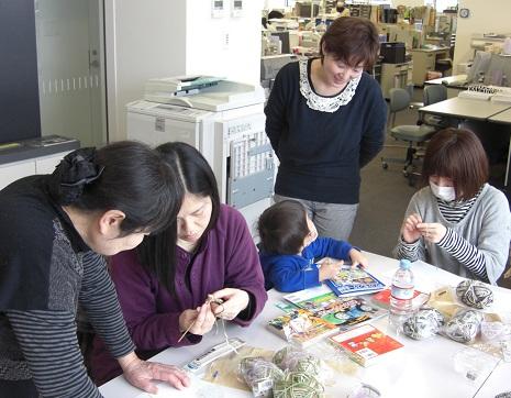 編み物教室と交流