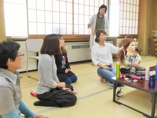 伊達ママクローバー 片平あゆみさんのヘアアレンジ教室 開催