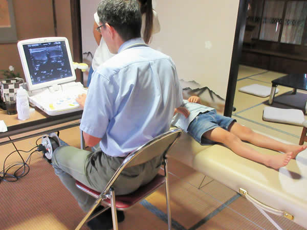 保育園で出張甲状腺検査