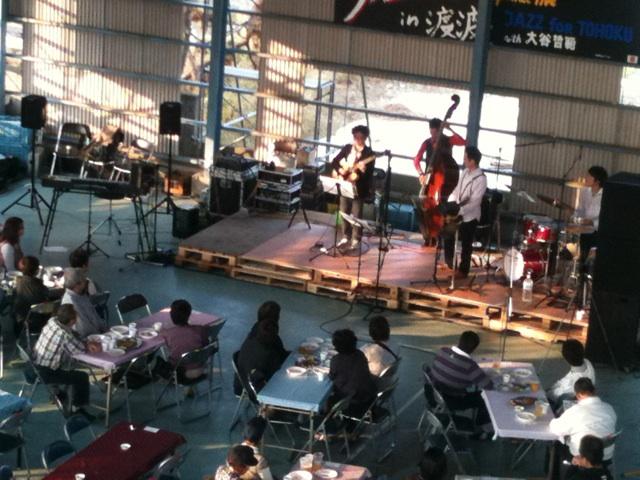 Jazz in 渡波! 緑水の森支援活動