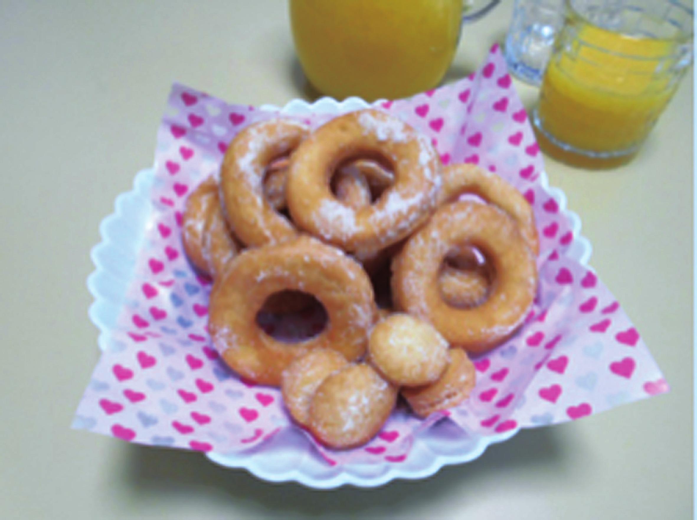 懐かし手作りドーナツ