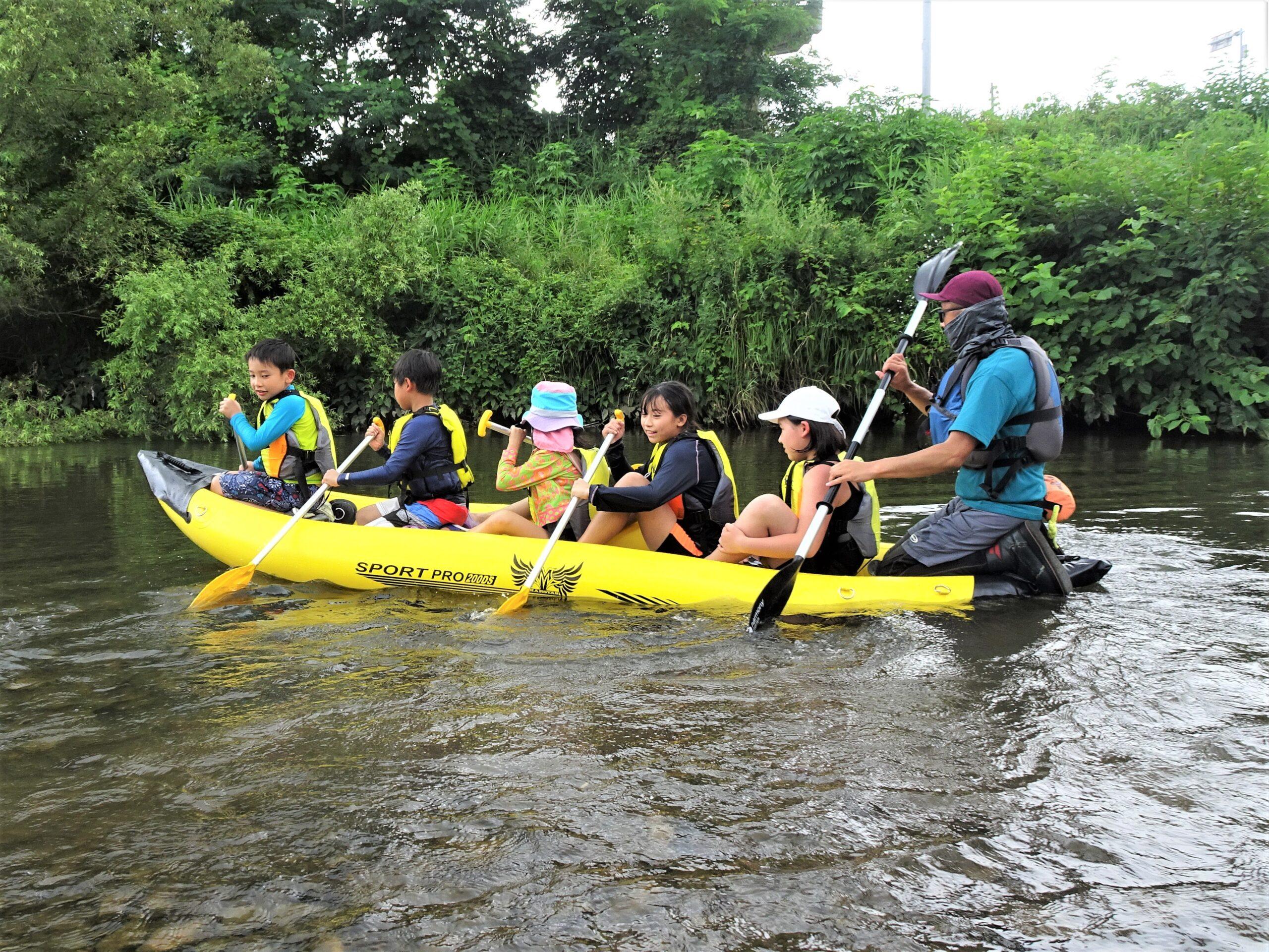 夏休みカヌー体験